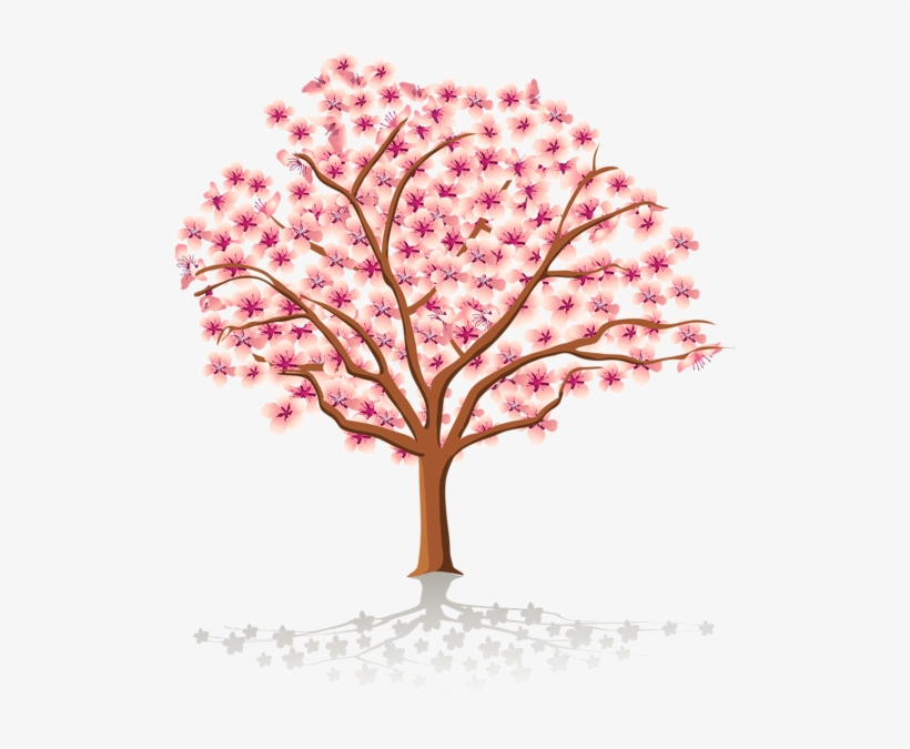 Watercolor Floral Clipart Cherry Blossom Watercolor - Transparent Background Cherry Blossom Tree Clipart, transparent png #78754