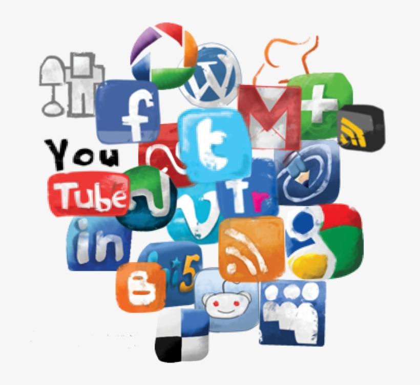 Social Media Icon Set - Social Media Clipart, transparent png #79009