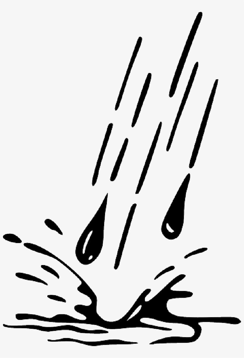 Water Droplet Clipart Water Drop Droplet Clipart Kid - Rain Drops Silhouette, transparent png #700762
