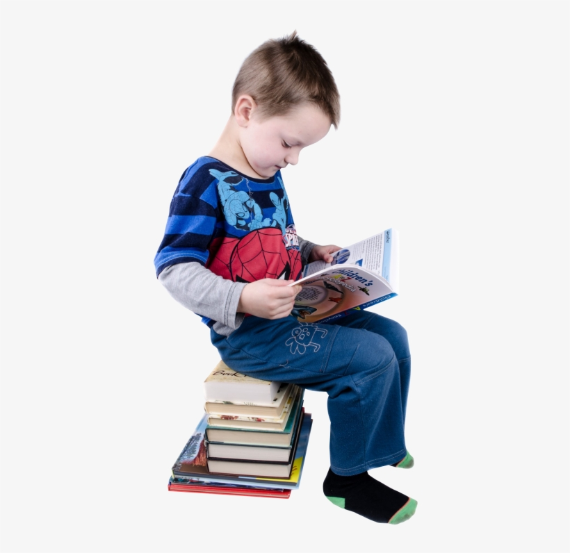 Download Boy Reading Books Png Image - Reading Books Png, transparent png #701434