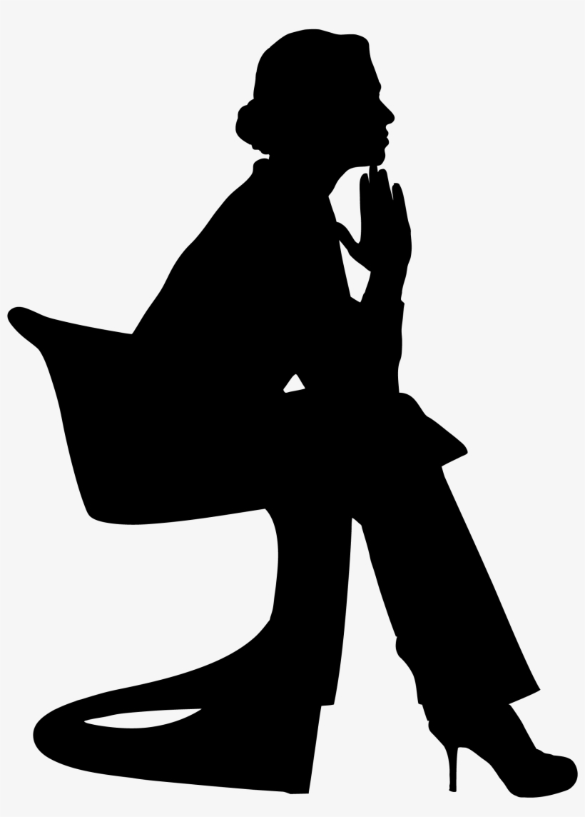 Conclusion - Woman Thinking Silhouette, transparent png #701704