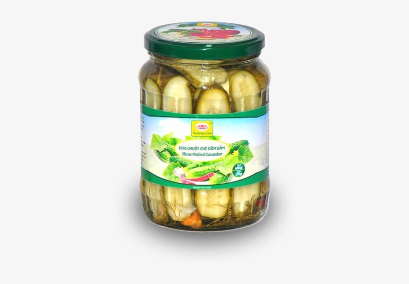 Slices Pickled Cucumber In Jar - Pickled Cucumber, transparent png #701935
