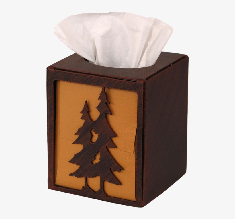 Iron Double Pine Tree Square Tissue Box Cover - Coast Lamp Mfg. Pine Tree Square Tissue Box Cover, transparent png #702345