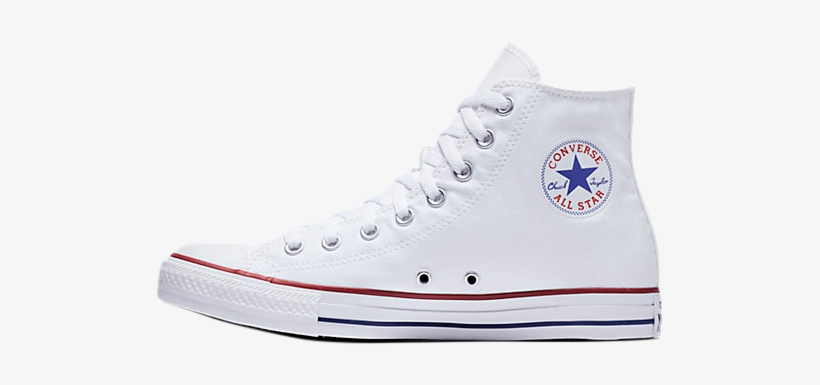 High Tops - Converse All Star Hi Top White Unisex, transparent png #704252