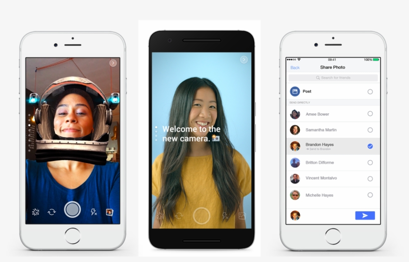 Facebook Tests Snapchat-style Camera Special Effects - Facebook Camera Filter, transparent png #706085