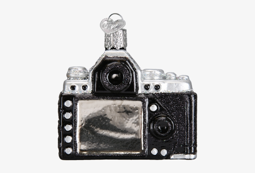 Photography Camera Glass Blown Hanging Christmas Ornament, transparent png #706291