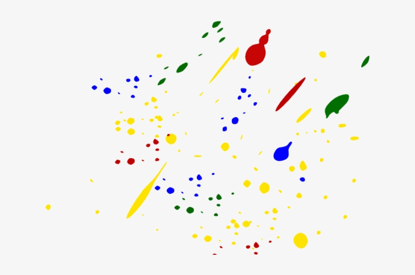 Splatter Clipart Colorful Paint Splatter - Black Paint Splatter Png, transparent png #707762