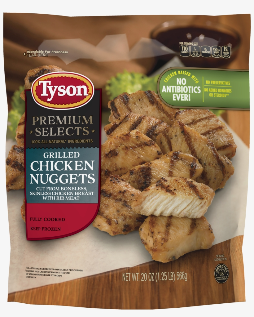 Tyson® Fully Cooked Grilled Chicken Breast Nuggets - Tyson Premium Select Chicken Nuggets, transparent png #709080