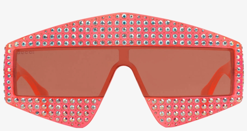 c1d3db54aaa Rectangular-frame Acetate Sunglasses With Crystals - Free ...