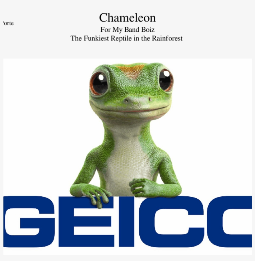 Chameleon Sheet Music For Flute, Clarinet, Piccolo,, transparent png #7025505