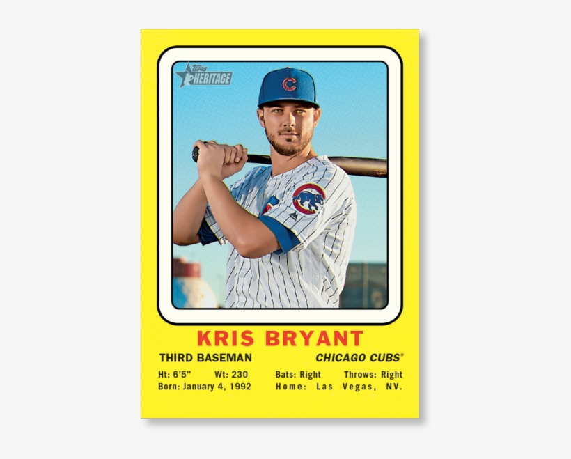 Kris Bryant 2018 Topps Heritage Baseball 1969 Collector, transparent png #7078904