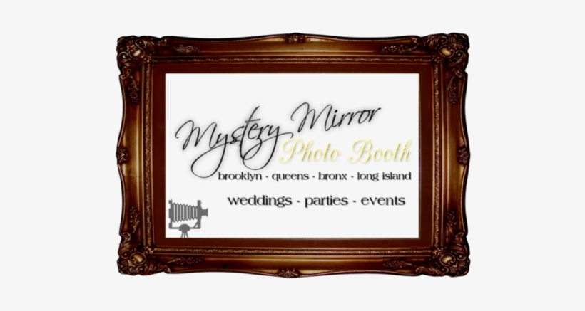 Cropped Mystery Mirror Photo Booth Rental New York - Picture Frame, transparent png #710599