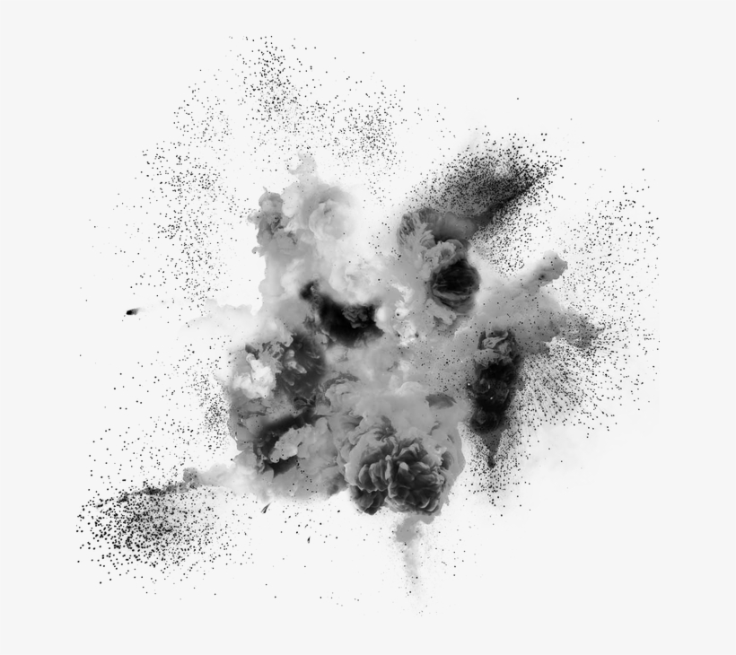Drawing Explosion Smoke - Explosion, transparent png #712644