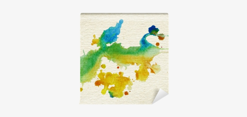 Abstract Watercolor, Ink Splashes On Brown Grainy Paper - Watercolor Painting, transparent png #712758