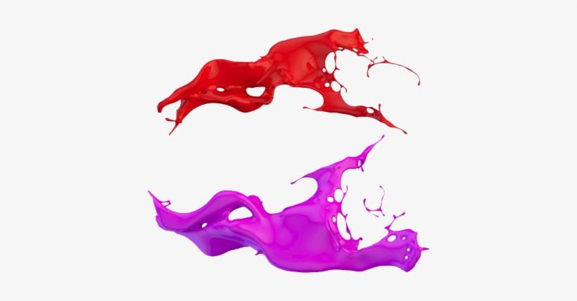 Watercolor Splatter Png 3d Paint Splash Psd, Vector - Paint Splash 3d Png, transparent png #713209