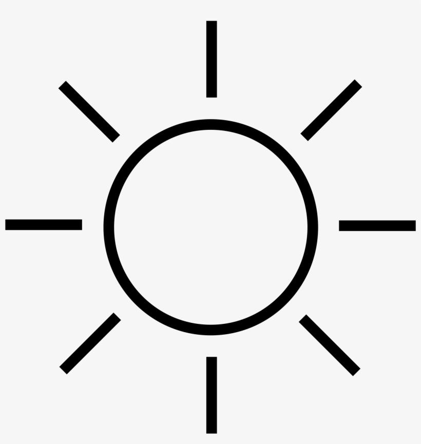 Sun Ray Png Black And White Transparent Sun Ray Black - Zon Tekening