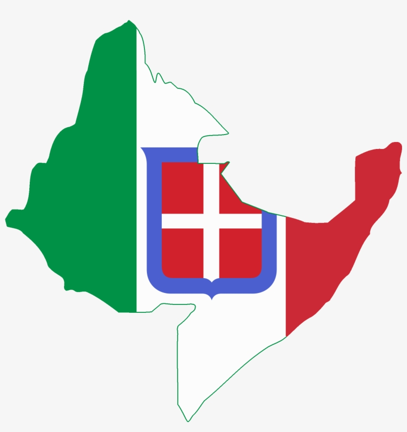 Flag Map Of Italian East Africa - Italian East Africa Flag, transparent png #715247