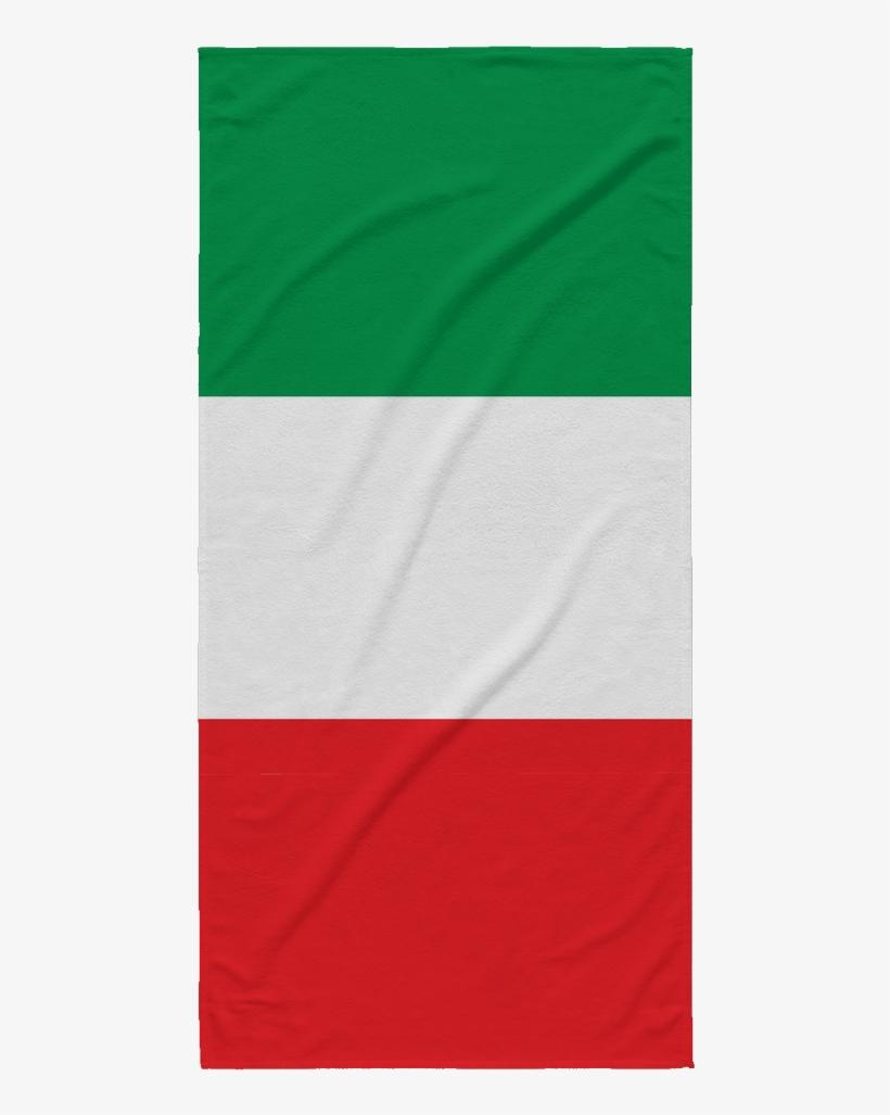 Italian Flag Beach Towel, transparent png #715432