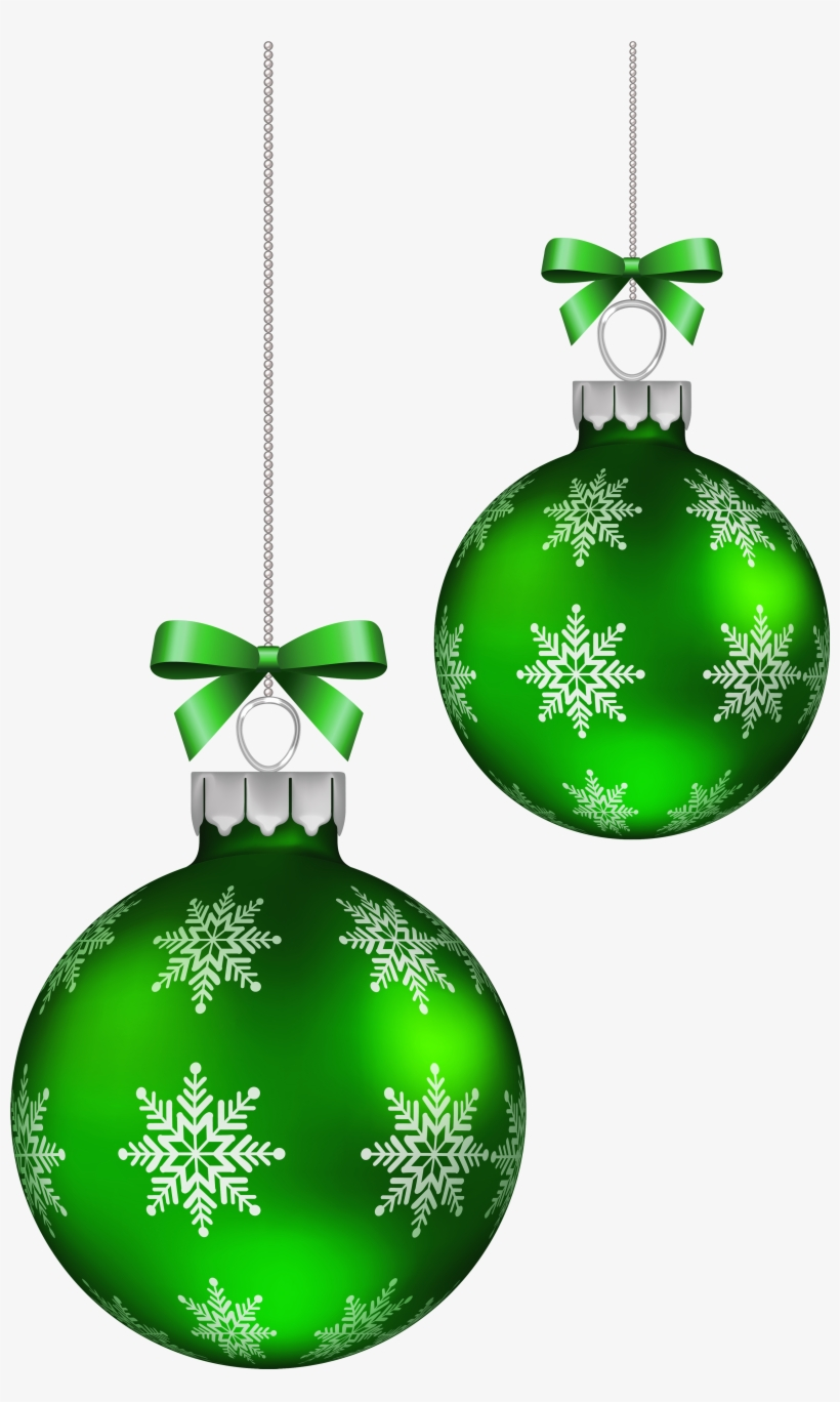 Green Christmas Balls Decoration Png Clipart Image - Christmas Red Balls Png, transparent png #715557
