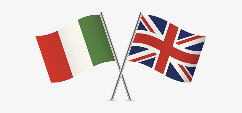 Italian And British Flags - Italian Immigration To Switzerland, transparent png #715585