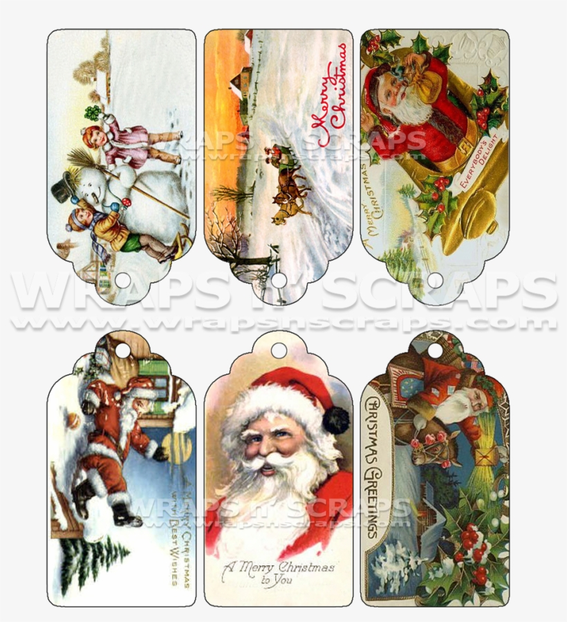Victorian Christmas Gift Tags - Shih Tzu Christmas Cards Two Greeting Cards, transparent png #715829