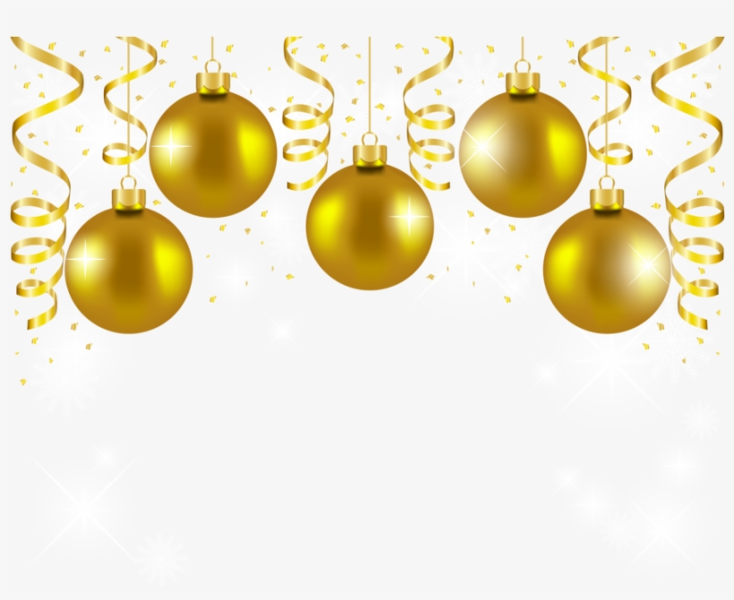 Download Gold Christmas Balls Png Clipart Christmas - Gold Christmas Ornaments Png, transparent png #716249