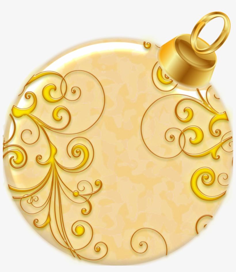 Christmas Ball - Gold Christmas Ball Png, transparent png #716539