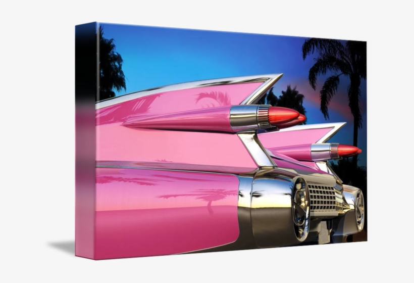 Pink Cadillac Png Vector Free Library - Library, transparent png #716875