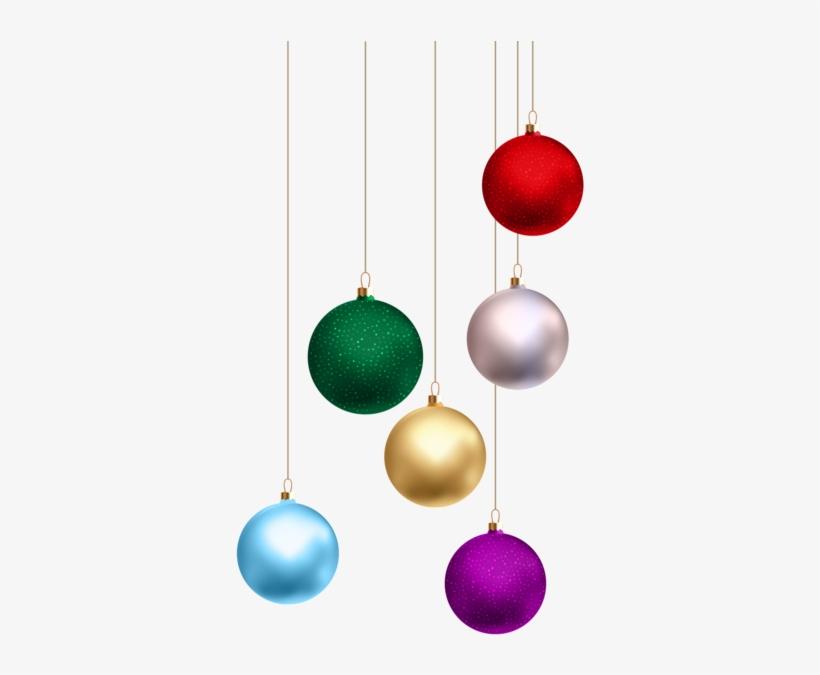 Christmas Balls Png Transparent Clip Art - Png Hanging Balls For Christmas, transparent png #716963