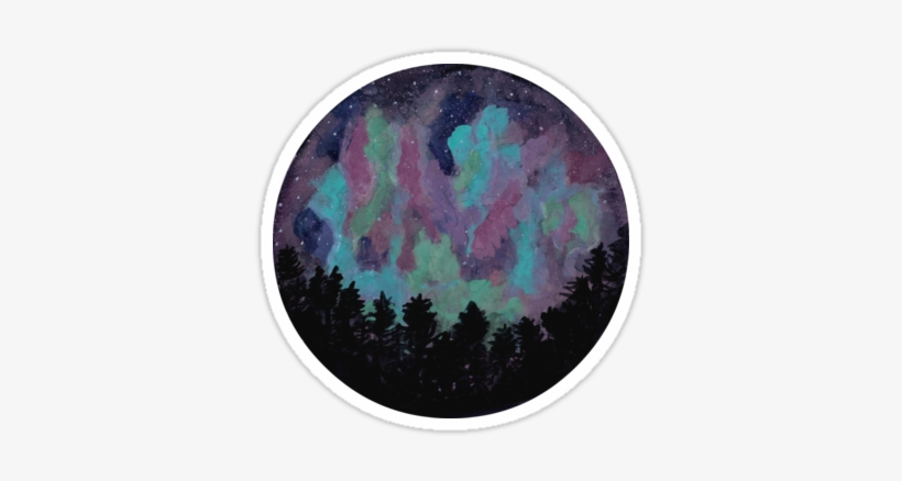 A Spherical Impressionistic Study Of A Night Sky Filled - Watercolor Painting, transparent png #717038