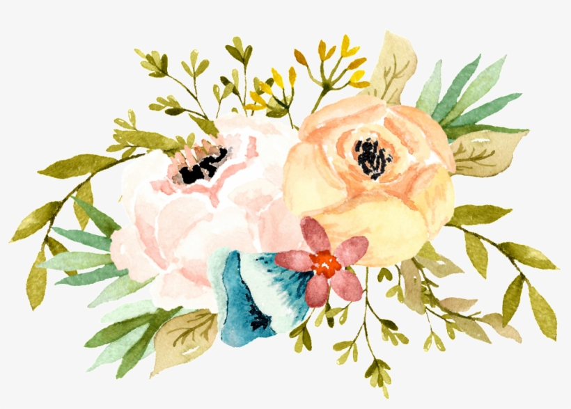 Watercolor Flower - Bridal Shower, transparent png #717083