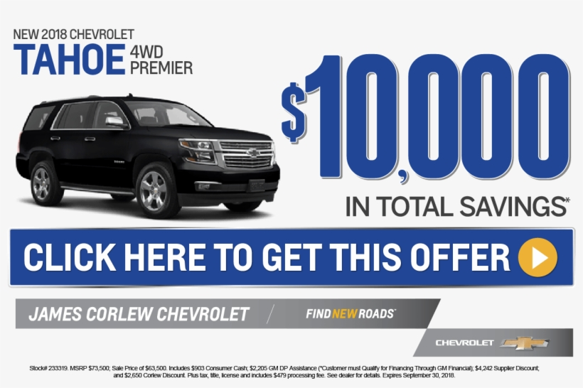 New Used Chevy Tahoe Specials James Corlew Chevrolet