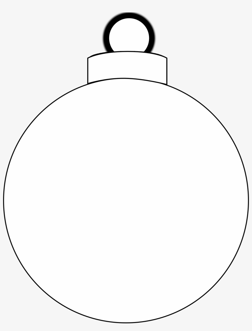 Christmas Ornament Clipart Black And White - Christmas Ball Vector Png, transparent png #717752