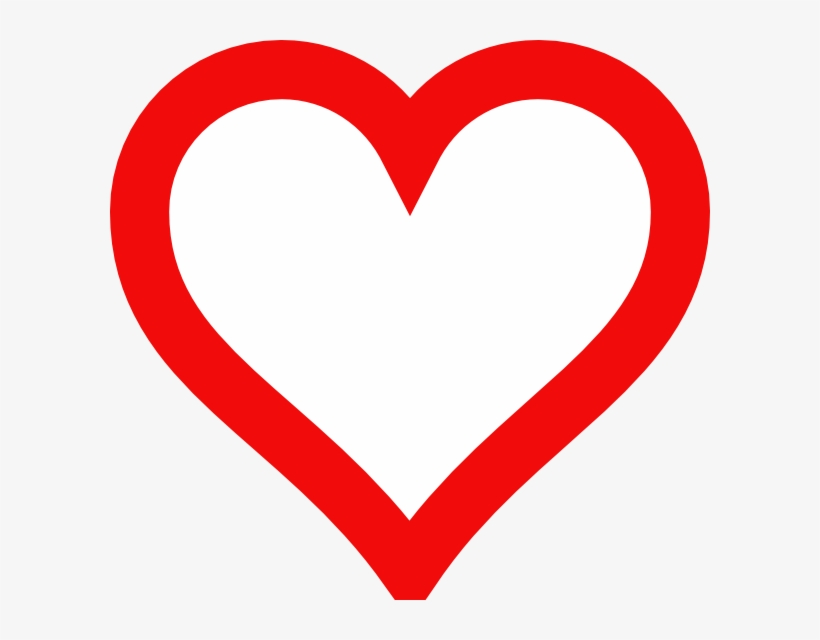 Heart Outline Clip Art At Clker Com Vector Clip Art - Red Heart Outline Clipart, transparent png #718945