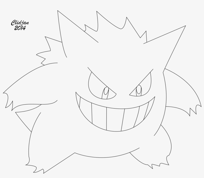 Gengar Coloring Pages Download And Print For Free Png Free
