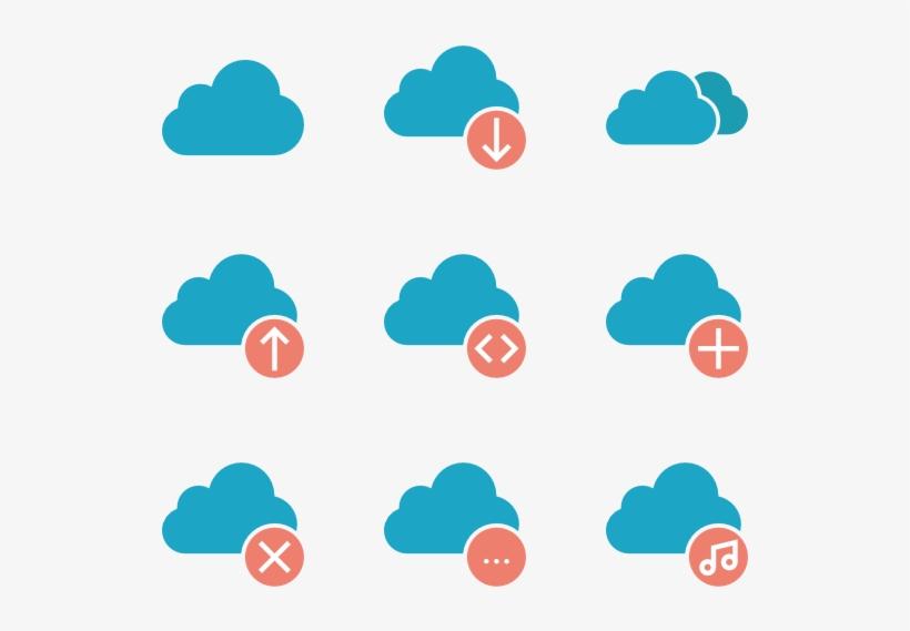 Cloud Computing Icon Set - Icons Cloud Computing Png, transparent png #720983