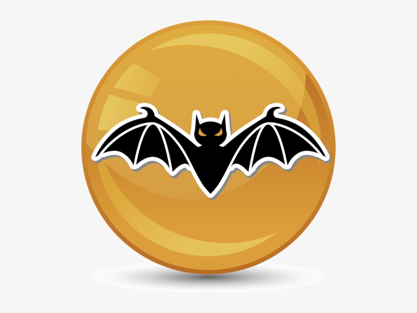 Halloween Bat Illustration On Yellow Wine Stopper, transparent png #721579