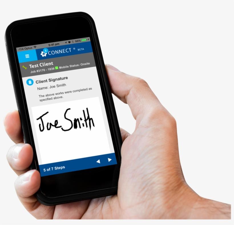 Hand Holding Phone Simproconnectsignature - Smartphone, transparent png #721879
