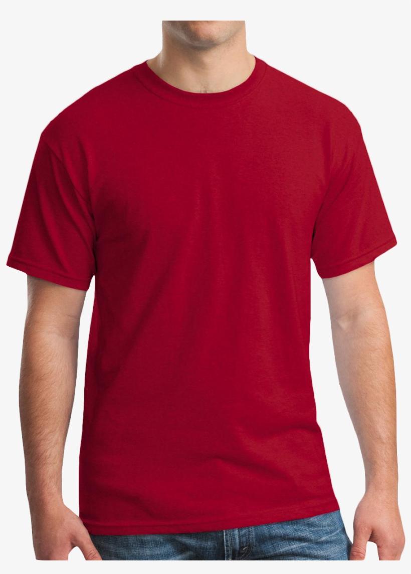 Gildan 100% Cotton T Shirt - Gildan Mens Red T Shirt, transparent png #724647