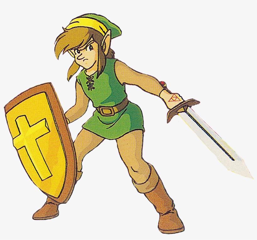 The Legend Of Zelda & The Adventure Of Link - Link Legend Of Zelda 1, transparent png #725447