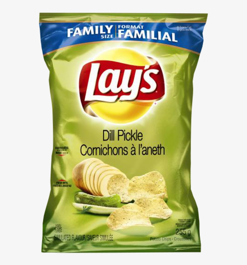 Lay's® Dill Pickle Potato Chips - Lay's Sea Salt & Pepper Potato Chips, transparent png #727146