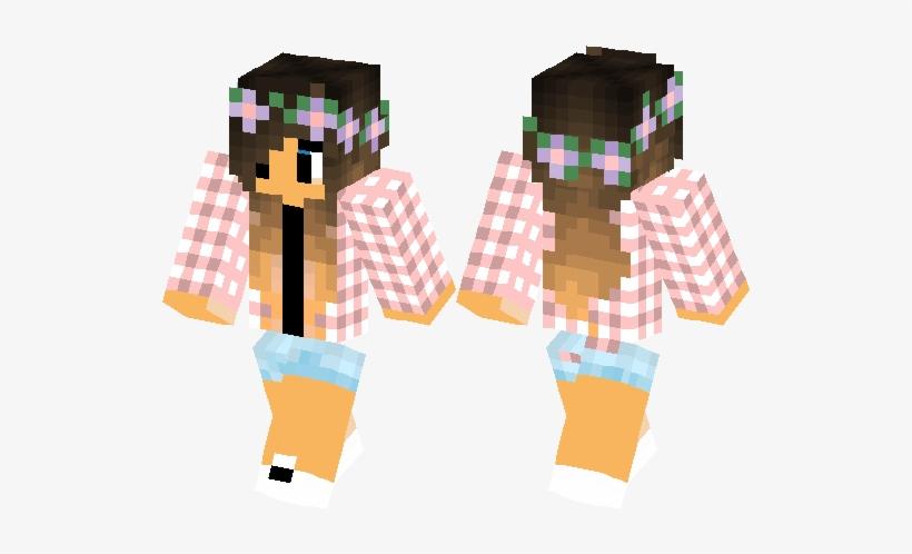 Farm With Flowers Minecraft Skin Minecraft Hub - Minecraft Farm Girl Skin, transparent png #727263
