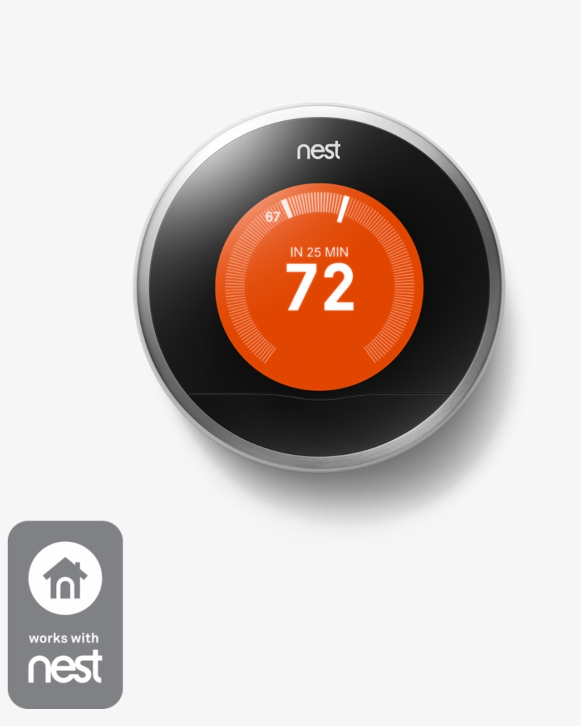 Thermostat - (used) Nest Learning Thermostat, transparent png #727434