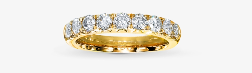 For Women Who Don't Wear Their Engagement Ring Every - Diamond Anniversary Band 1 Ct Tw Round-cut 14k Yellow, transparent png #727838