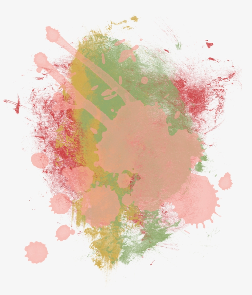 Color Multicolor Effect Splash Blots - Painting - Free Transparent