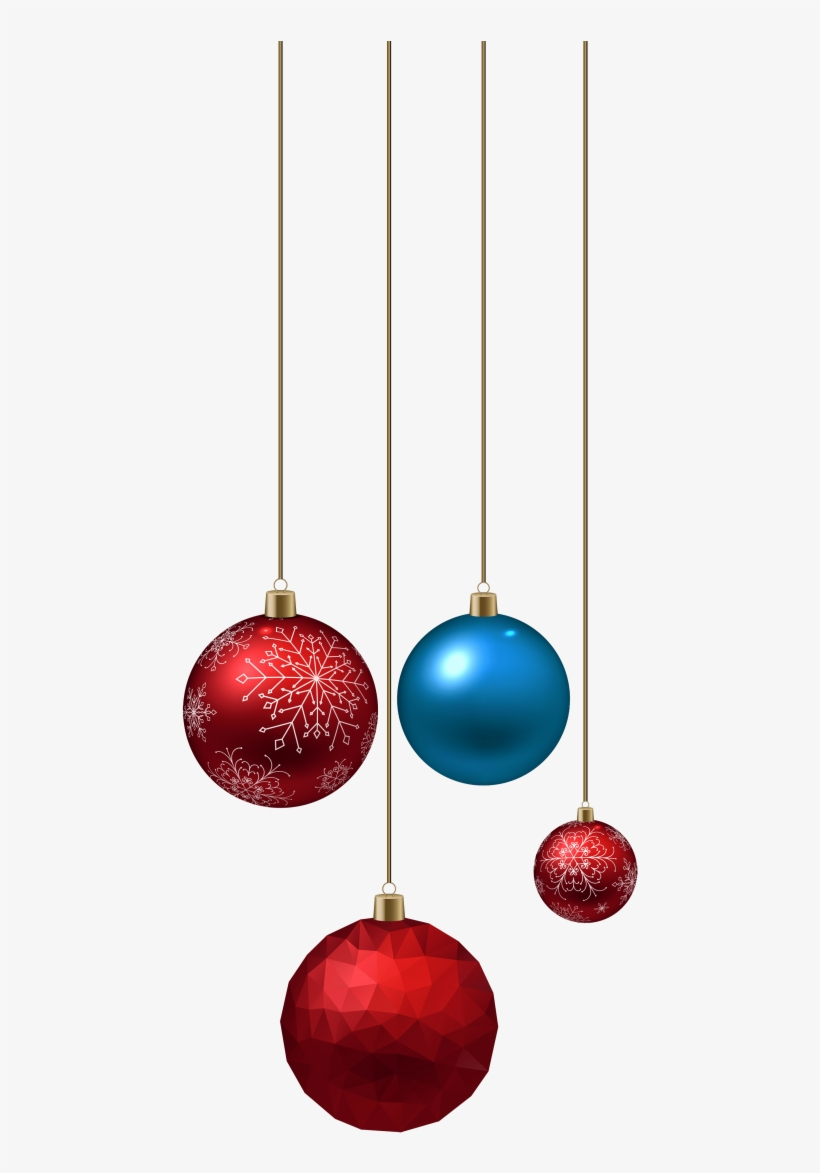Free Png Blue And Red Christmas Ball Png Images Transparent - Christmas Light Ball Png, transparent png #728066