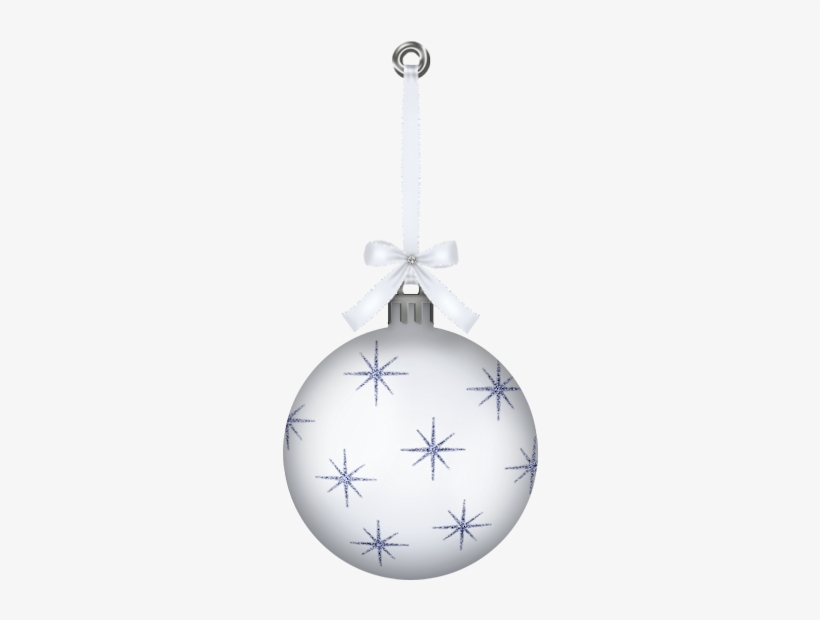 White Hanging Christmas Ball Ornament Png Clipartu200b - Christmas Ball White Png, transparent png #728417