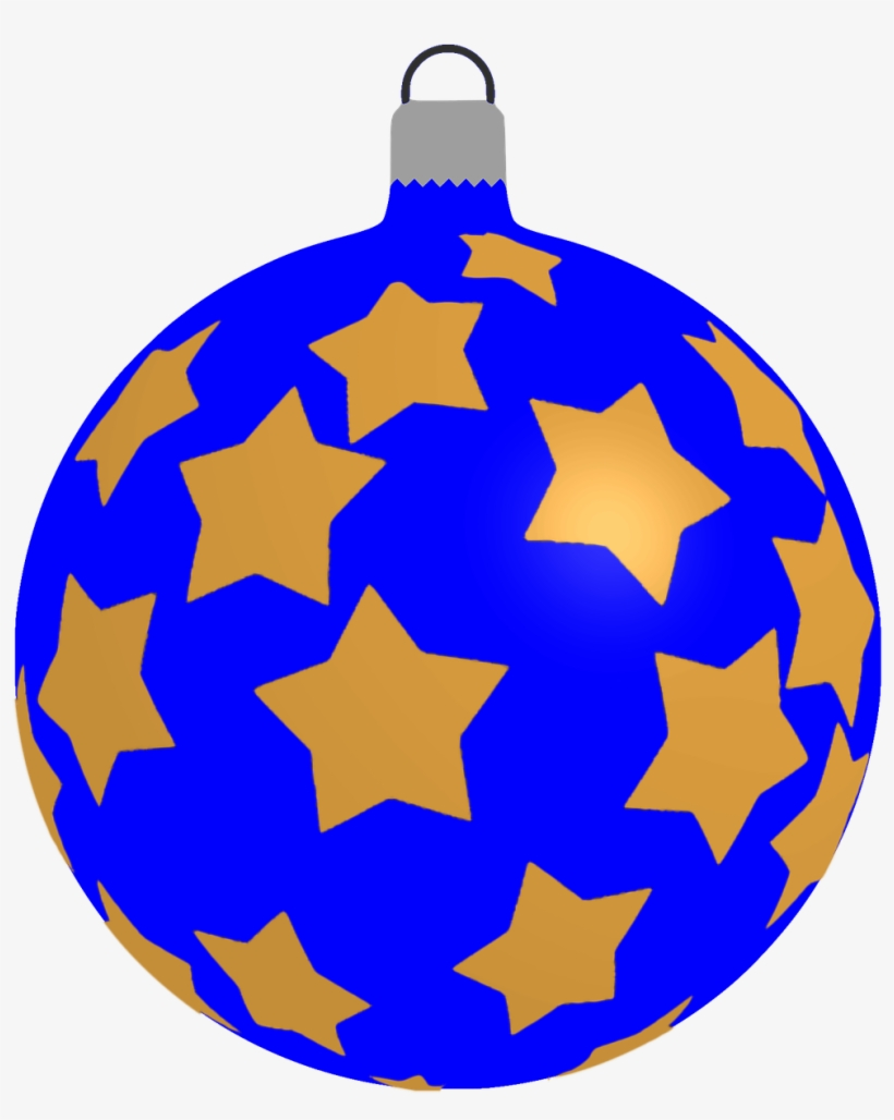 How To Draw A Christmas Ball, Bauble - Blue Transparent Christmas Decoration, transparent png #728539