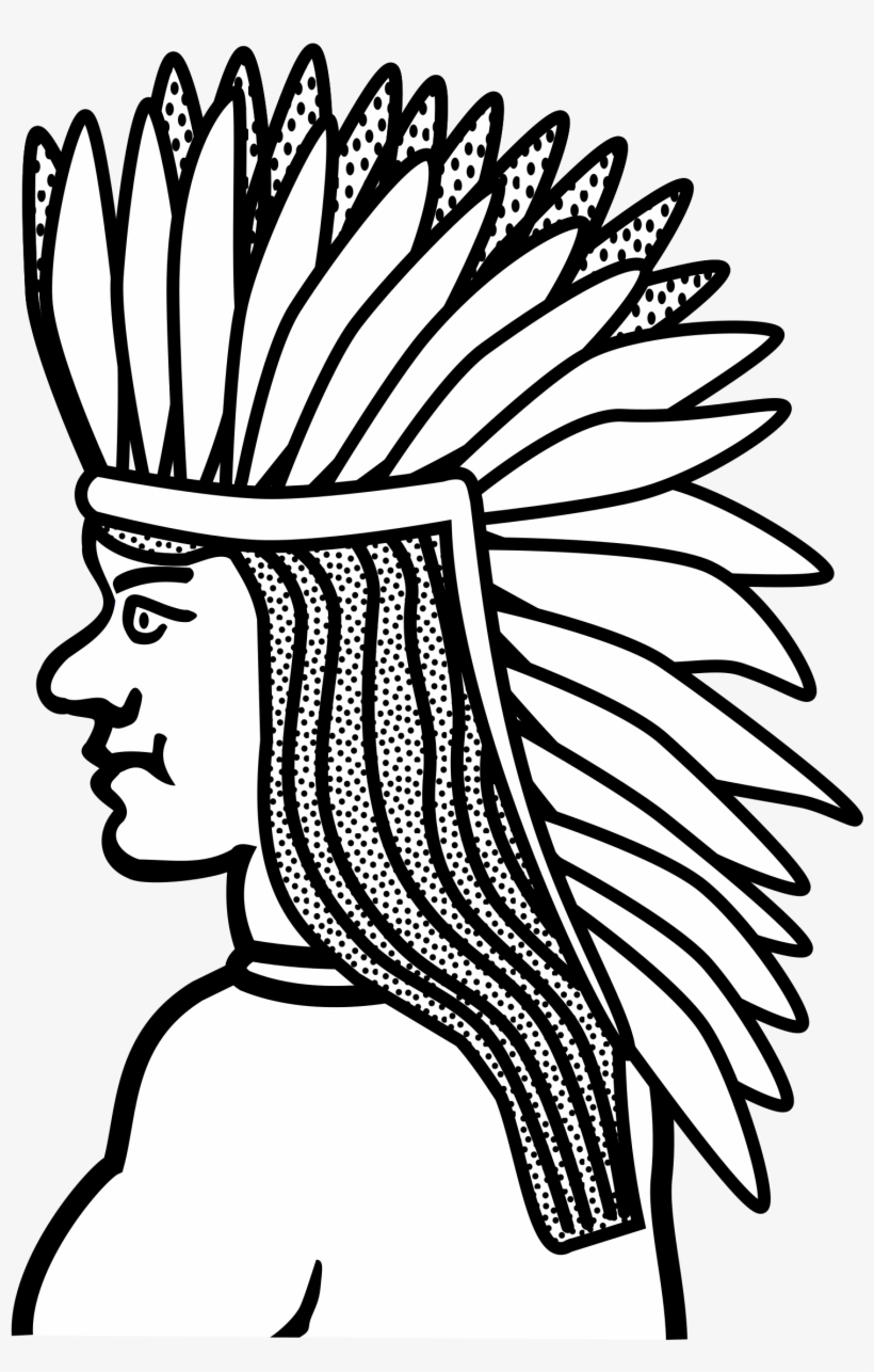 Native Americans In The United States Line Art Drawing - Native Americans Line Art, transparent png #728793