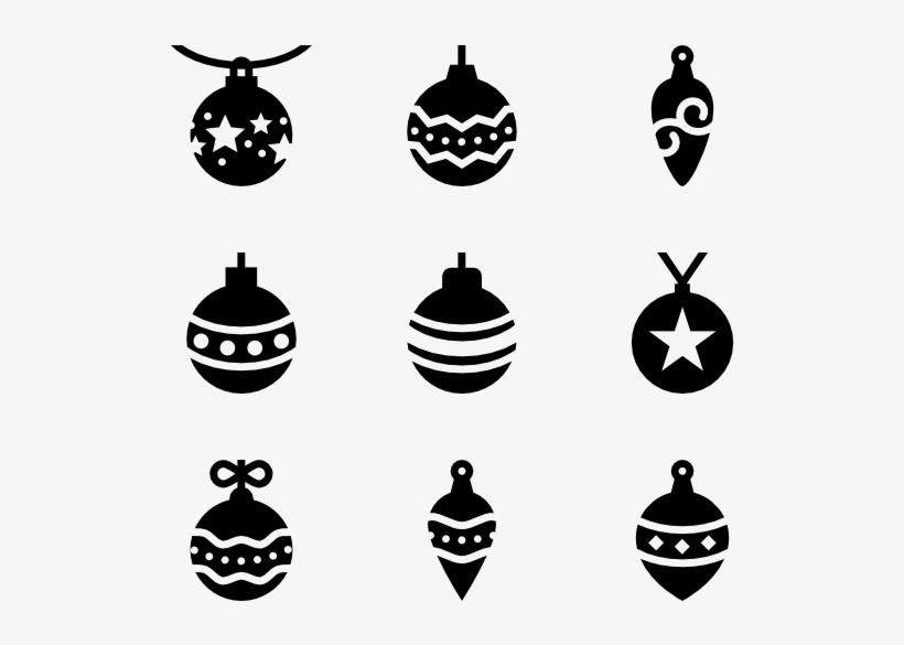 6 Christmas Ball Icon Packs - Christmas Ball Vector Silhouette, transparent png #729251